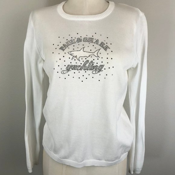 Rare Paul & Shark Yachting Bedazzled Sweater NWT